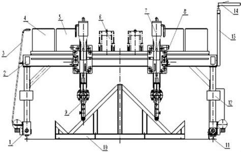 Drawing H Beam by H Beam Production Line Gantry Welding Machine Equipment