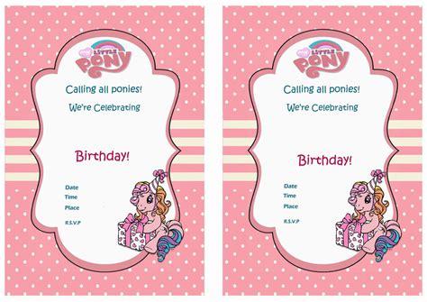 Pony Invitation Card Template by My Pony Birthday Invitations Birthday Printable