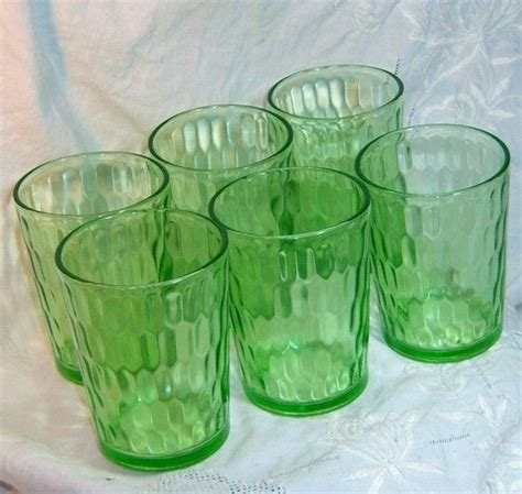 depression glass colors 6 green depression glass tumblers depression colors and