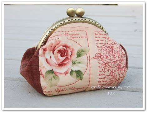 free pattern frame purse vintage rose framed purse free tutorial and epattern