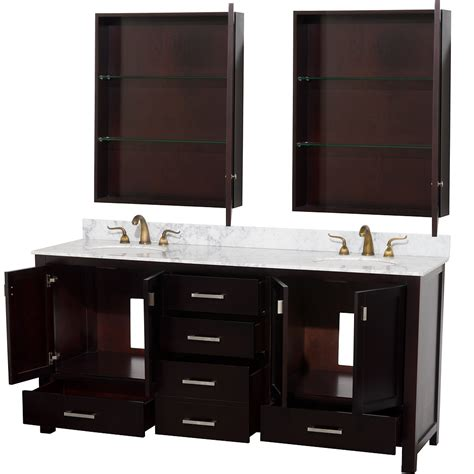 Vanity Medicine Cabinet Wyndham Collection 72 Inch Abingdon Bathroom Vanity Wc