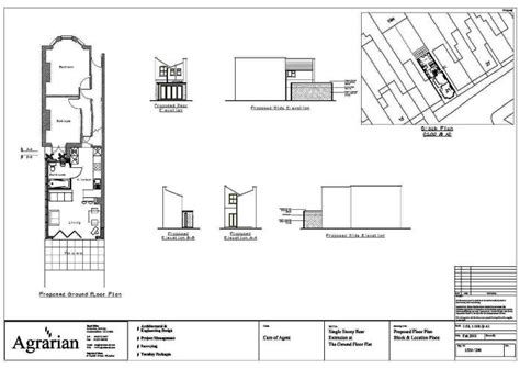 extension floor plans single storey extension plan london birmingham