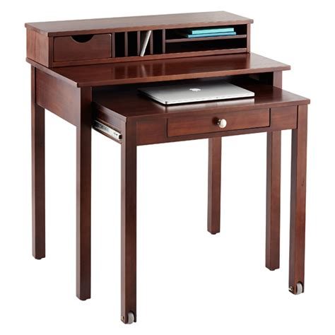 solid wood roll out desk java solid wood roll out desk