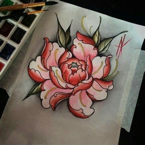 oriental flower tattoo designs pivoine tatts tatting and tatoo