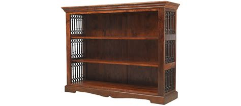 low bookcase jali sheesham low bookcase quercus living