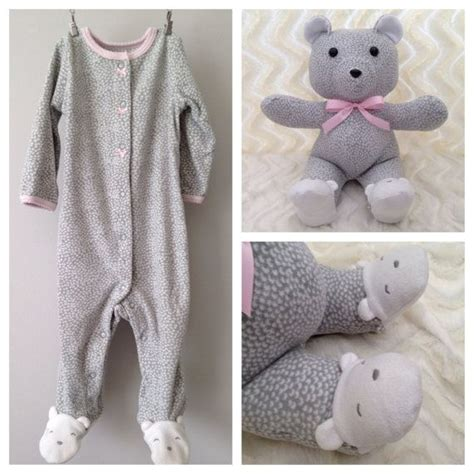pattern for baby clothes teddy bear keepsake bear memory bear teddy bear made from baby onesie