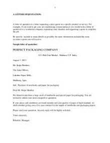 Business Letter Quotation Request Business Letters