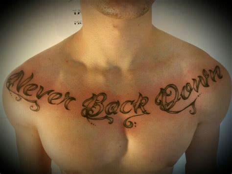 tattoo down your back frase tattoo never back down tattoo by rossana bonetto