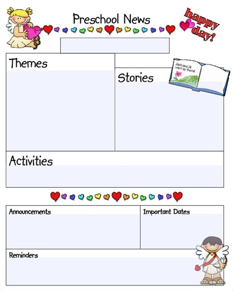 Kindergarten Newsletter Templates Free Formats Excel Word Free Preschool Newsletter Templates