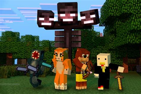 Squid, Stampy, L-For-Lee, and Squishy! | Minecraft ... L For Lee Minecraft Stampy
