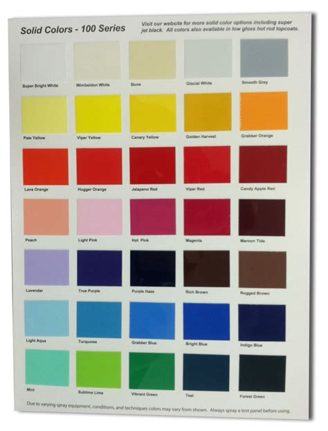 auto paint color charts autos post