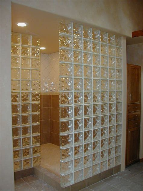 Glass Block Showers Small Bathrooms Glass Block Wall Bathroom 28 Images Glass Block Shower Partial Wall Could Substitute Shower