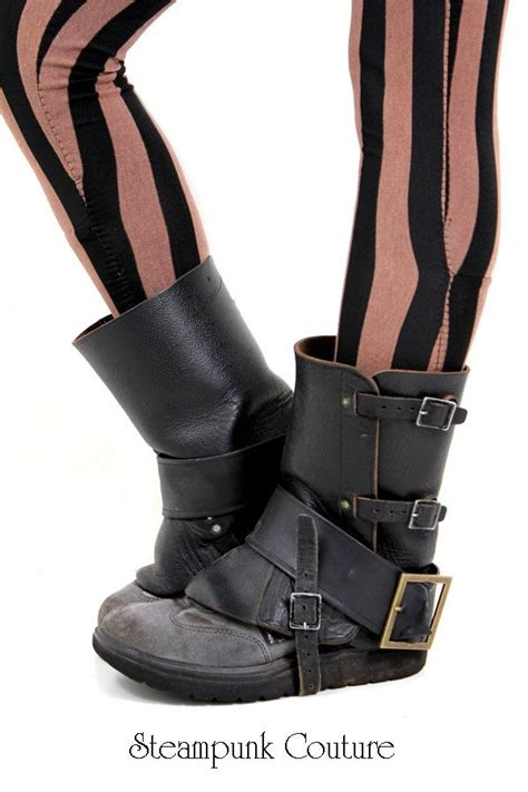 vintage wwii black leather steunk gaiters spats 39 00 via etsy costuming