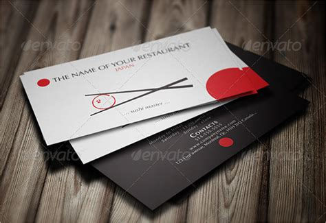 Japanese Business Card Design Template by 45 Restaurant Business Cards Templates Psd Designs