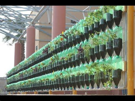 green wall educational vertical garden bottle system