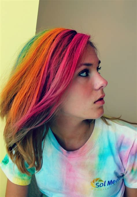 hair chalking a new look at diy hair color stylenoted live love craft my new rainbow hair diy tutorial