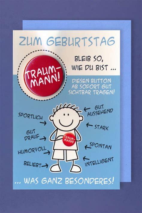 Bilder Geburtstag Mann by Gru 223 Karte Geburtstag Karte Humor Applikation Button Traum