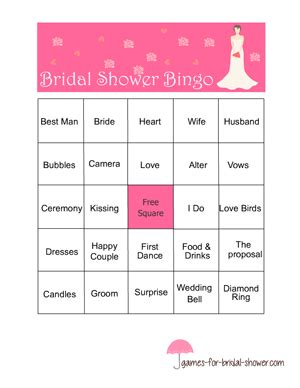 Free Printable Bridal Shower Gift Bingo Cards - free printable bridal shower bingo game
