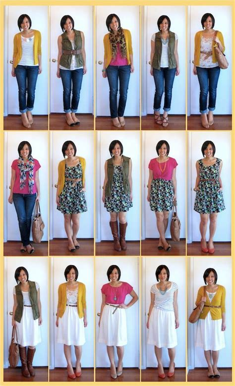 Mix And Match Wardrobe Pieces by 8 Pieces 15 Looks The Mix And Match That
