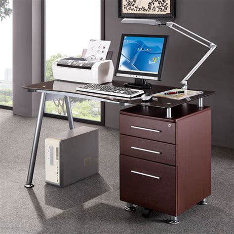 Modern Design Office Locking File Cabinet Computer Desk Ebay Office Desk With File Cabinet