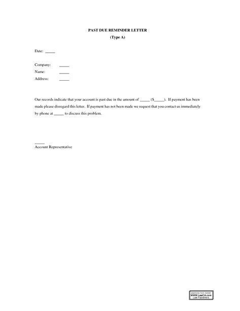Letter For Rent Past Due Past Due Invoice Letter Template Resume Builder