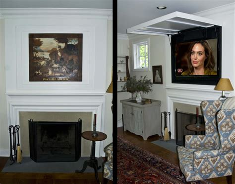 Hide Tv In Living Room by Television In A Traditional Space Traditional