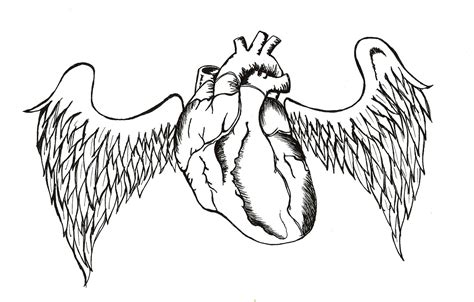 heart with wings tattoo designs wings images designs