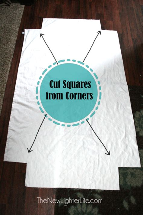 How To Sew A Duvet Cover From Sheets How To Make Fitted Sheets From A Flat The New Lighter Life