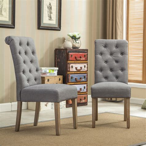 roundhill furniture tufted parsons dining chairs sears