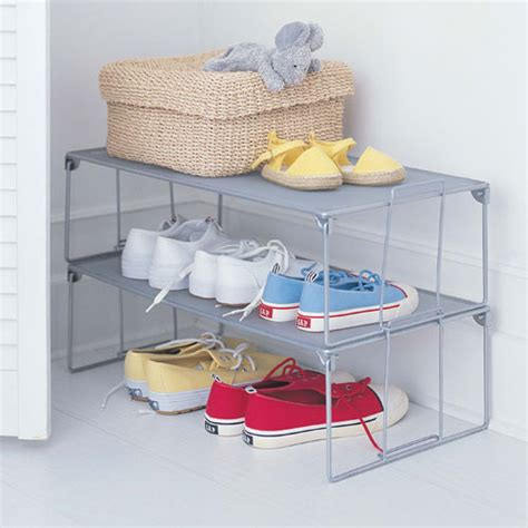 shoe storage stackable stackable shoe rack mesh in shoe racks