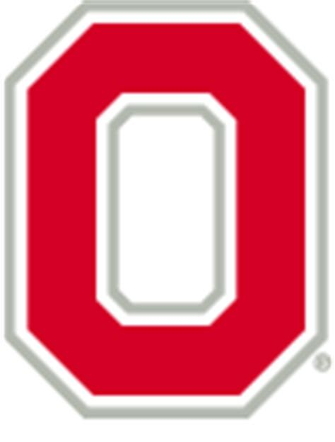 Ohio State Block O Outline by Variation On The Block O Includes A Buckeye Leaf In The Lower Right Images Frompo