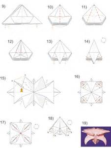 Origami Flower Diagram - origami flower diagrams submited images