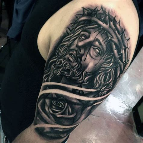 jesus tattoos for men 60 jesus arm designs for religious ink ideas
