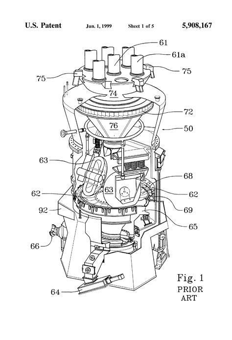 Set Bowl Pulverizer patent us5908167 integrated high pressure drop rotating