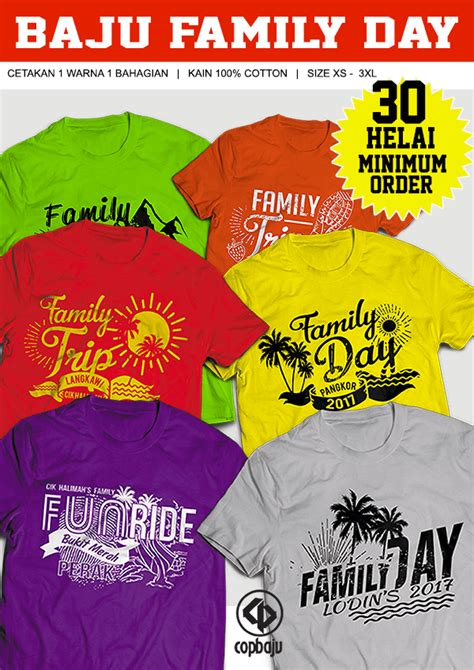 design baju family day 2017 promosi cetak baju family day rm10 00