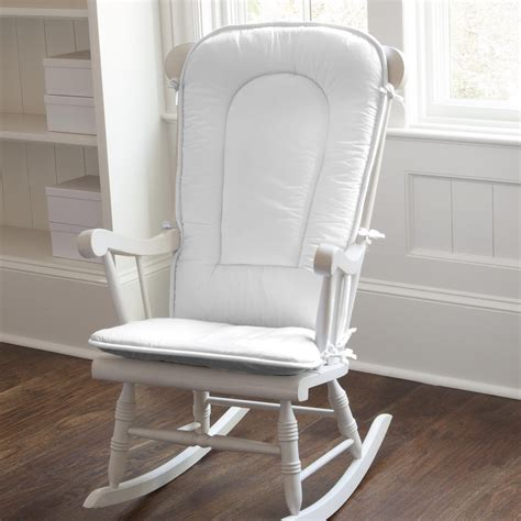 White Rocking Chair Nursery Solid White Rocking Chair Pad Carousel Designs