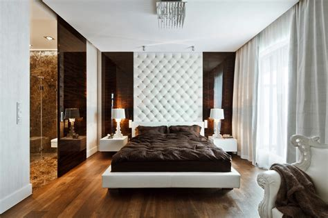 and modern apartment design white brown bedroom design kenholt