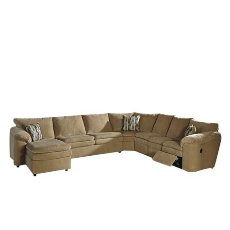 ashley dune sectional ashley coats 5 piece fabric reclining sleeper sectional in