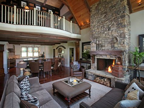 poll which rustic great room do you prefer homes of dragonfly lodge contemporary living room atlanta