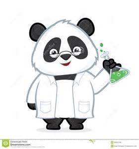 professor panda stock vector image 48564792