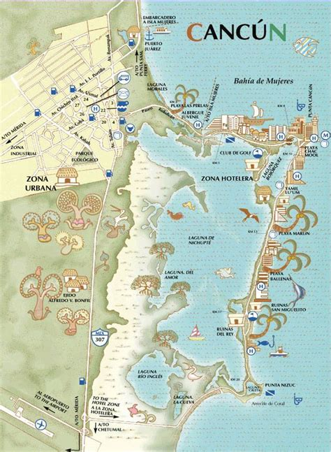 map of cancun large cancun maps for free and print high resolution and detailed maps