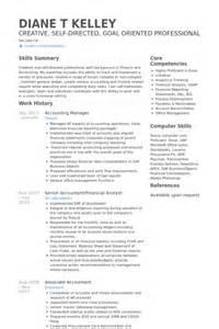 accounting resume sles visualcv resume sles database