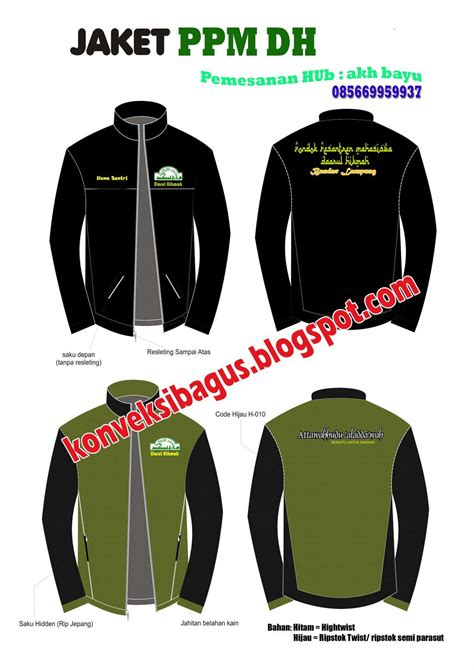 desain jaket santri jaket santri lc 003