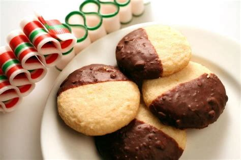 Choco Mede Ina Cookies gluten free orange butter cookies dipped in chocolate the 12 days of cookies