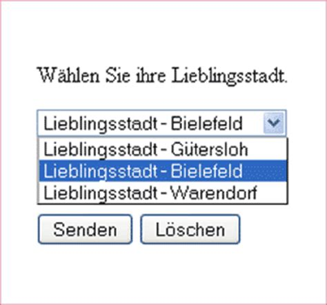 html quellcode layout select auswahlmen 252 in webseiten auslesung in php