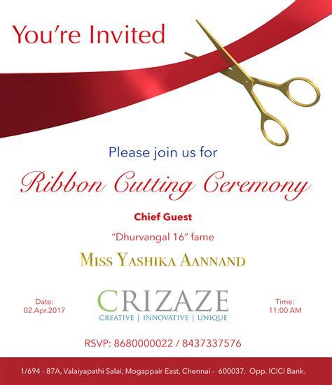 Ribbon Cutting Ceremony Crizaze Ribbon Cutting Ceremony Invitation Template
