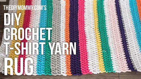 diy tshirt rug how to crochet a tshirt rug rugs ideas