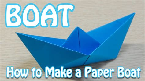 Make Paper Boats - how to make a paper boat that floats in water step by