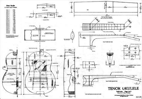 tenor ukulele plan woodworking uke plan