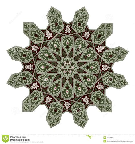 pattern arabic floral middle eastern floral pattern motif stock photo image